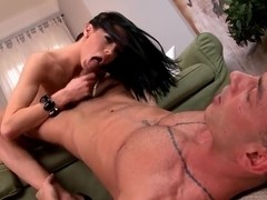 Liz is crazy about a huge black cock in her mouth