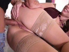 Kinuski - Office Anal Threesome With DP