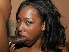 Ms Platinum shows her skills on a thick rod