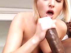 Attractive young tart Kate England performin in interracial porn movie