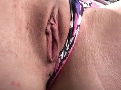 Stacy Snake loves deep masturbating her juicy pussy outdoors!