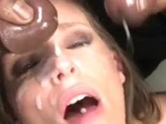 Jamie Jackson acquires her face overspread in cum by Bbc