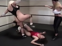 WRESTLING BABES WRESTLE IN THONG LEOTARDS PART 1