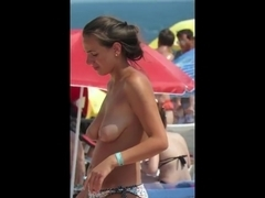 Gorgeous Topless Amateur Horny Topless Teen Voyeur Video