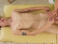 Young Twink Gives Blowjob On Massage Table