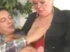 BBW granny gets boned and facialized
