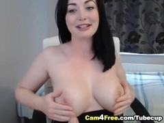 Busty French Canadian Babe Masturbating