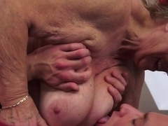 Chubby Granny With Saggy Tits Gets Fucked