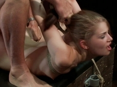 Sensi Pearl gets tied up and fucked hard