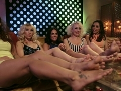 Fabulous fetish, lesbian sex video with hottest pornstars Lorelei Lee, Francesca Le and Ashley Fires from Footworship