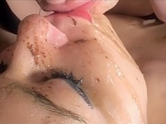 Pervy bitches enjoying my cum