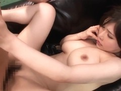 Anri Okita is a hot Asian milf getting massive cumshot facial