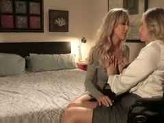 Brandi Love and Julia Ann Share Lesbian Sensuality
