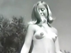 Vintage Sexy Hairy Nudists at Pool