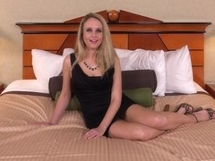 Old Blonde Mom Allee Takes Anal On