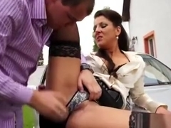 Astonishing Babes In Hardcore Threesome While Clothed