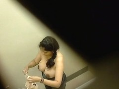 Wonderful woman shot her amazing big boobs on camera