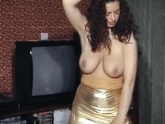 I DANCE YOU WANK 34 - big tits, hairy pussy striptease dildo