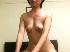 Nasty mature Asian amateur sucks dick and gets hard ride