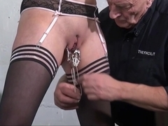 Amateur slave Taylors dungeon domination and kinky tit pain