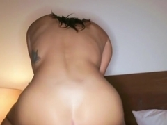 Guy Fucks skinny brunette delicious ass in front of webcam...