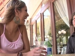 Gorgeous young mommy Carina Devoe sucks my lucky dick on the way to my home