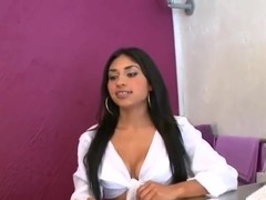 Voodoo invited this smoking Latina for a conversatio, but she is too hot for talking
