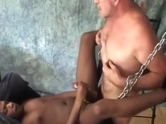 black boy Fucked In Sling By Daddy