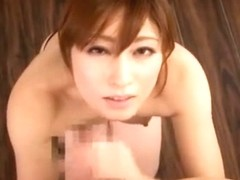 Fabulous Japanese slut Karen Kisaragi in Incredible Handjob, Couple JAV scene