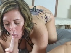 Stunning Amateur Pleases Her Man - POV Blowjob and BTS