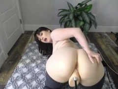 Pawg getting fuck by fuck machine
