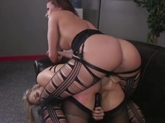 Thick MILF slave Angel Allwood gets her big ass stretched ou