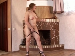 Horny pornstar Dana Karnevali in Crazy Masturbation, Brunette porn movie