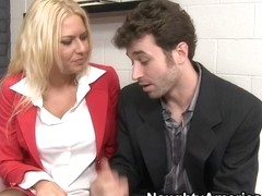 Riley Evans & James Deen in Naughty Office