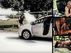 Sophia Torres Must Endure Rough Sex & Outdoor Rope Bondage for a Tow Truck - HelplessTeens