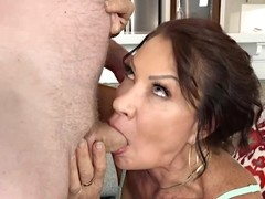 Insatiable mature, Vanessa Videl fucked one of her neighbors, while his wife was at work
