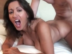 Horny Milf Maid Persia Monir Takes A Hot Load Of Cum On Her Hairy Pussy