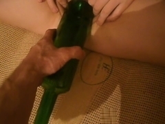 Fisting with a bottle