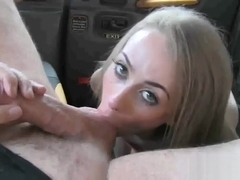 Slutty amateur blonde passenger nailed in the backseat
