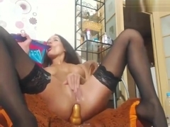 Amateur Brunette Wife In Stockings