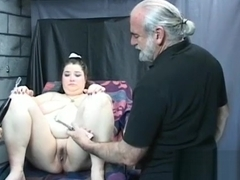 Woman endures enormous stimulation in wild non-professional fetish video