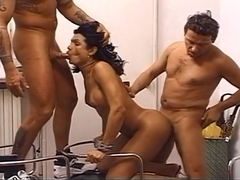 Studly Evan Denzil With Tranny Fucking Fernanda Barros And Lu