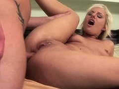 Hot blonde Eve Nicholson opens her pussy and gets a cock
