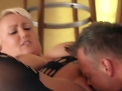 Voluptuous, German Blonde, Kitty Is Getting Fucked Harder Than Ever, On The Floor, And Enjoying It