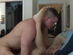 Hard brunette riding CUM