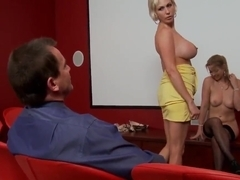 Hardcore threesome with two hot blond chicks casting Evan Stone and Kasey Grant