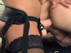 StrapOn She takes pleasure in pegging her man