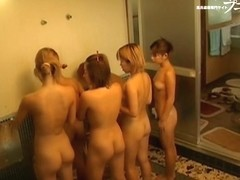 Asian dolls spend great time in the public shower room dvd 03178