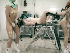 Clinical torments lesbian operating theatre rubber
