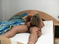 Blonde Teen Gagging Deep